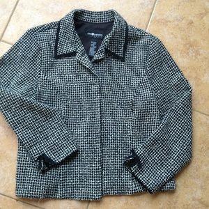 Sag harbor black white tweed. Jacket